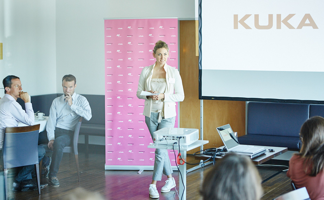 Dr. Susanne Goehl, Head of Business Development Messe München, at the joint kick-off.